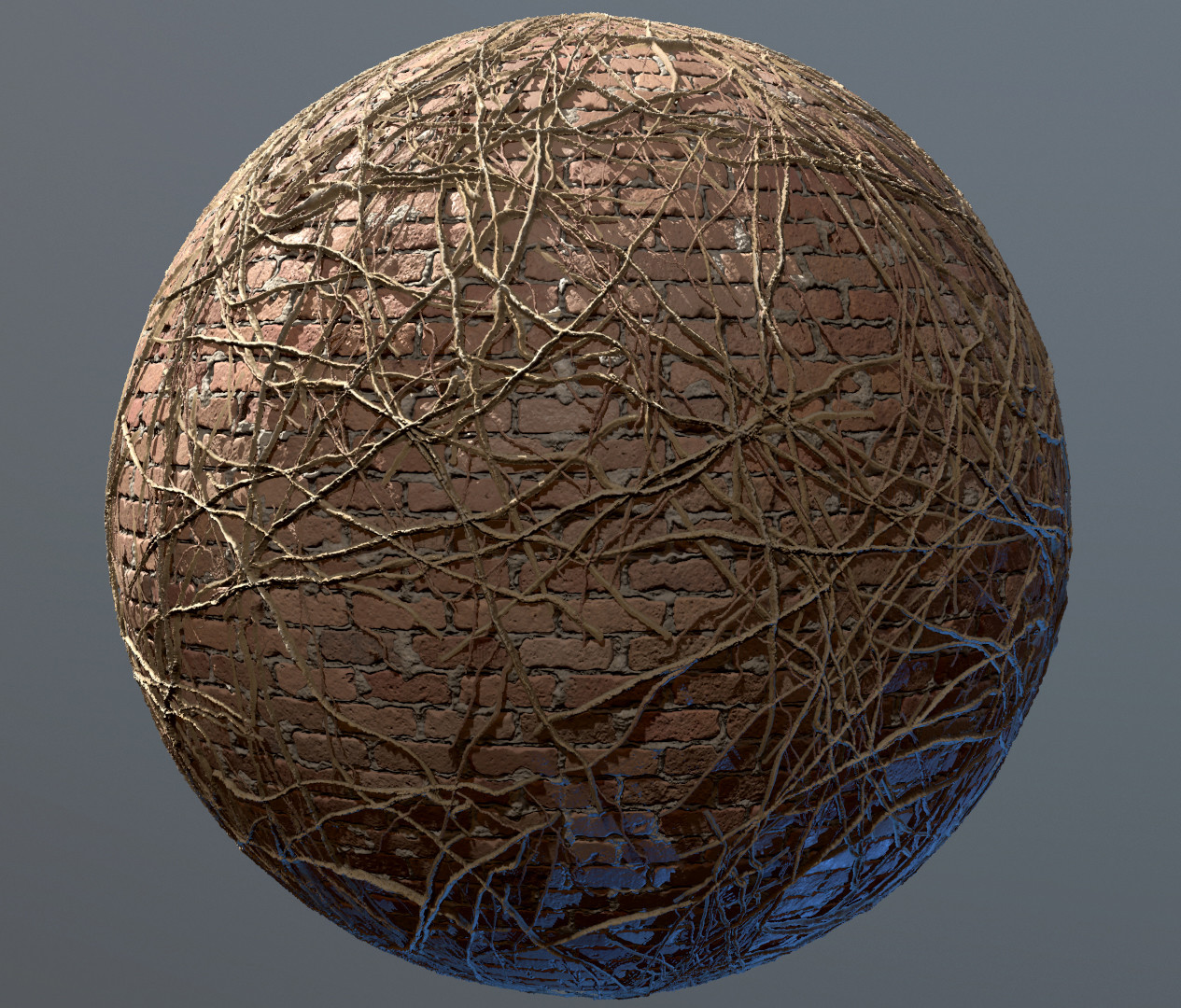 Preview of what the ivy looks like over a brick texture.