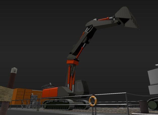 Low-Poly Construction vehicle - Excavator