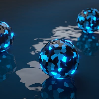 Bluepixelanimations lowpoly ball composited
