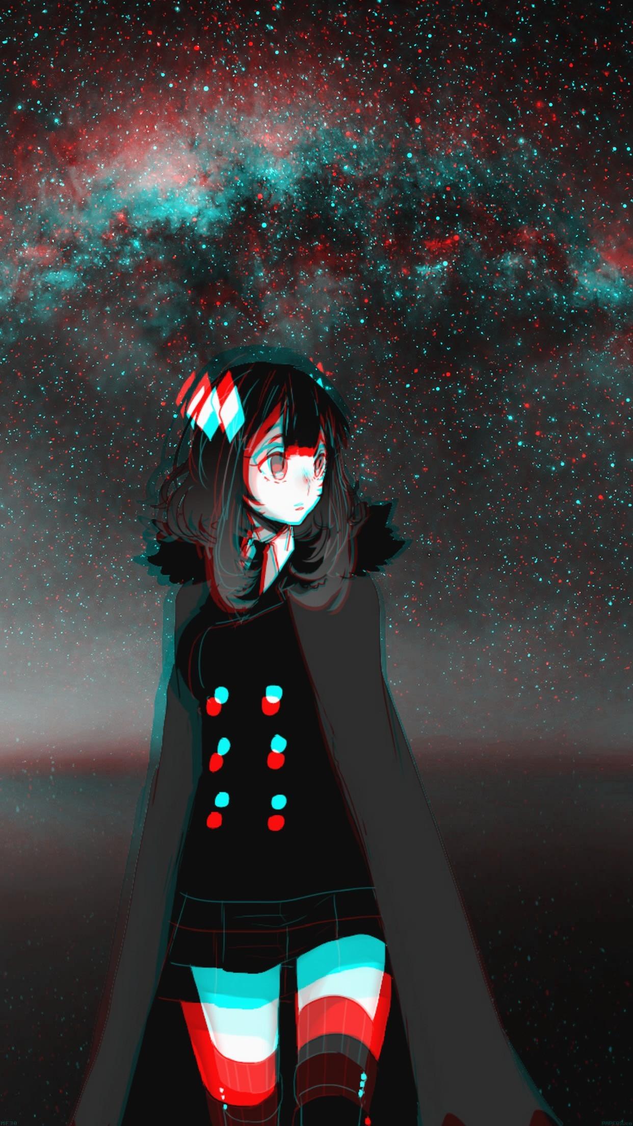 Best of Aesthetic Anime Girl Glitch - wallpaper