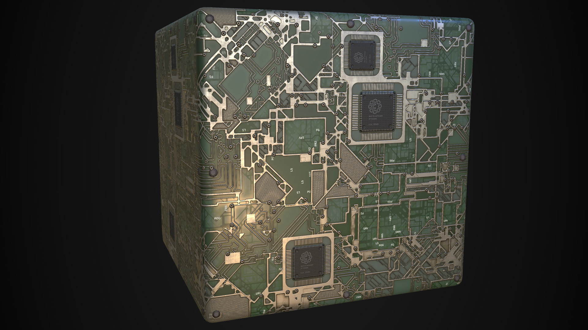 Artstation Circuit Board Substance Matthias Schmidt Designing A And Getting It Made Somebody Asked How I The Lines Its Basicly Just Edge Detect From Tile Sampler Input With Bit Of Tweaking Blending