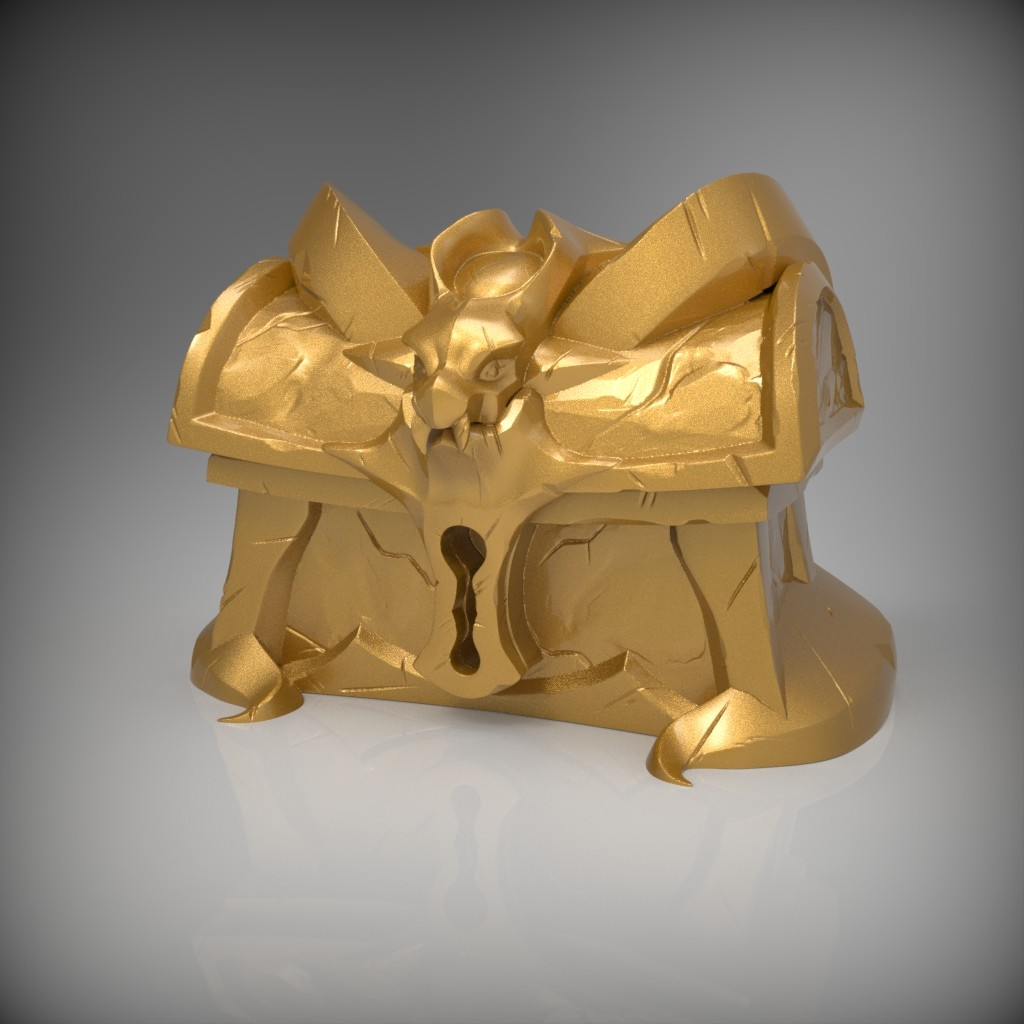 Gold Chest Sculpt