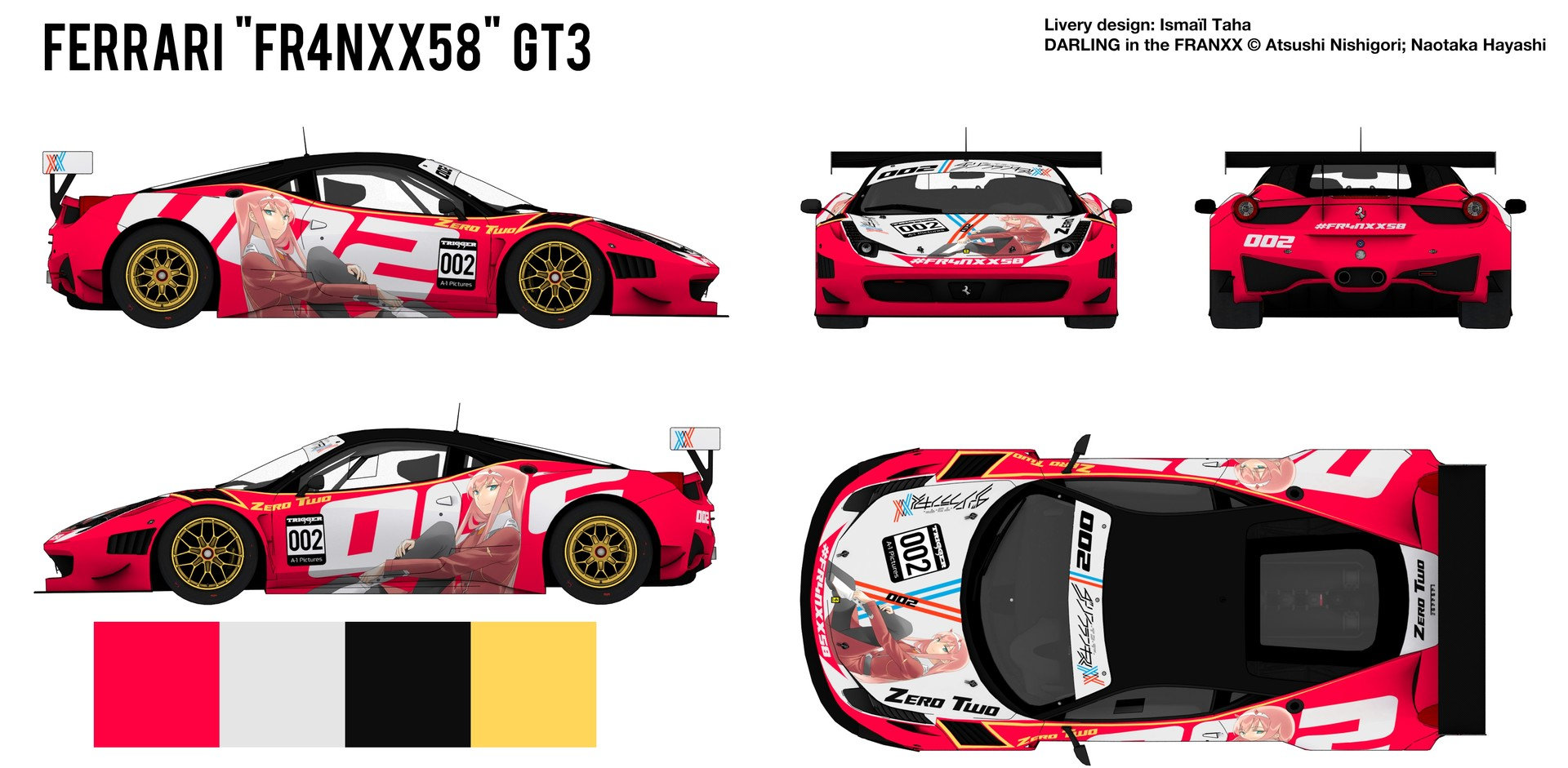 Artstation ferrari fr4nxx58 gt3 ismal taha blueprint rendered from the 3d model see below malvernweather Choice Image