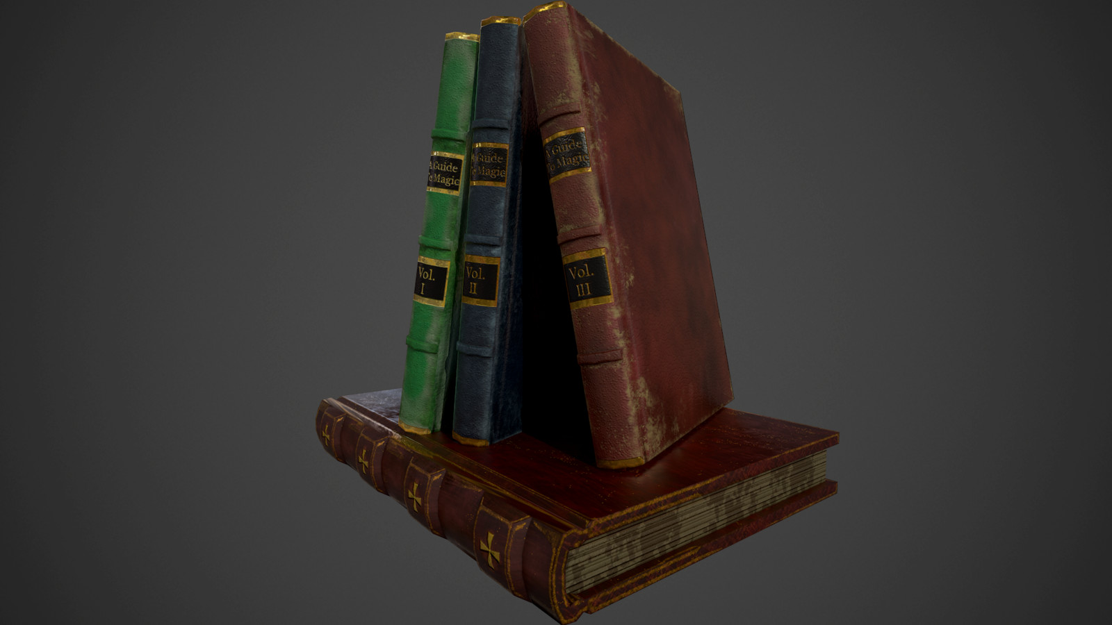 Low Poly Books