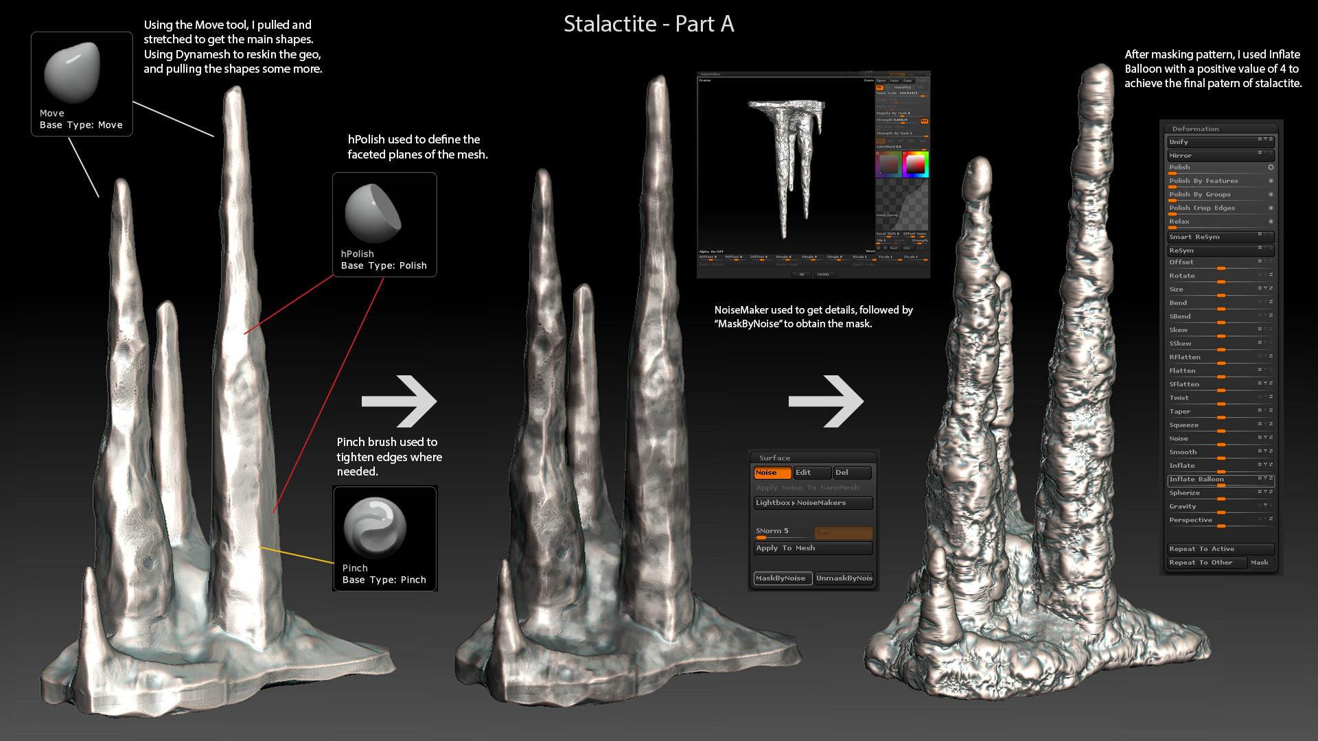 Jamir blanco stalactite a