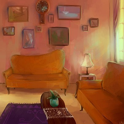 Meitar lavi living room scene polish