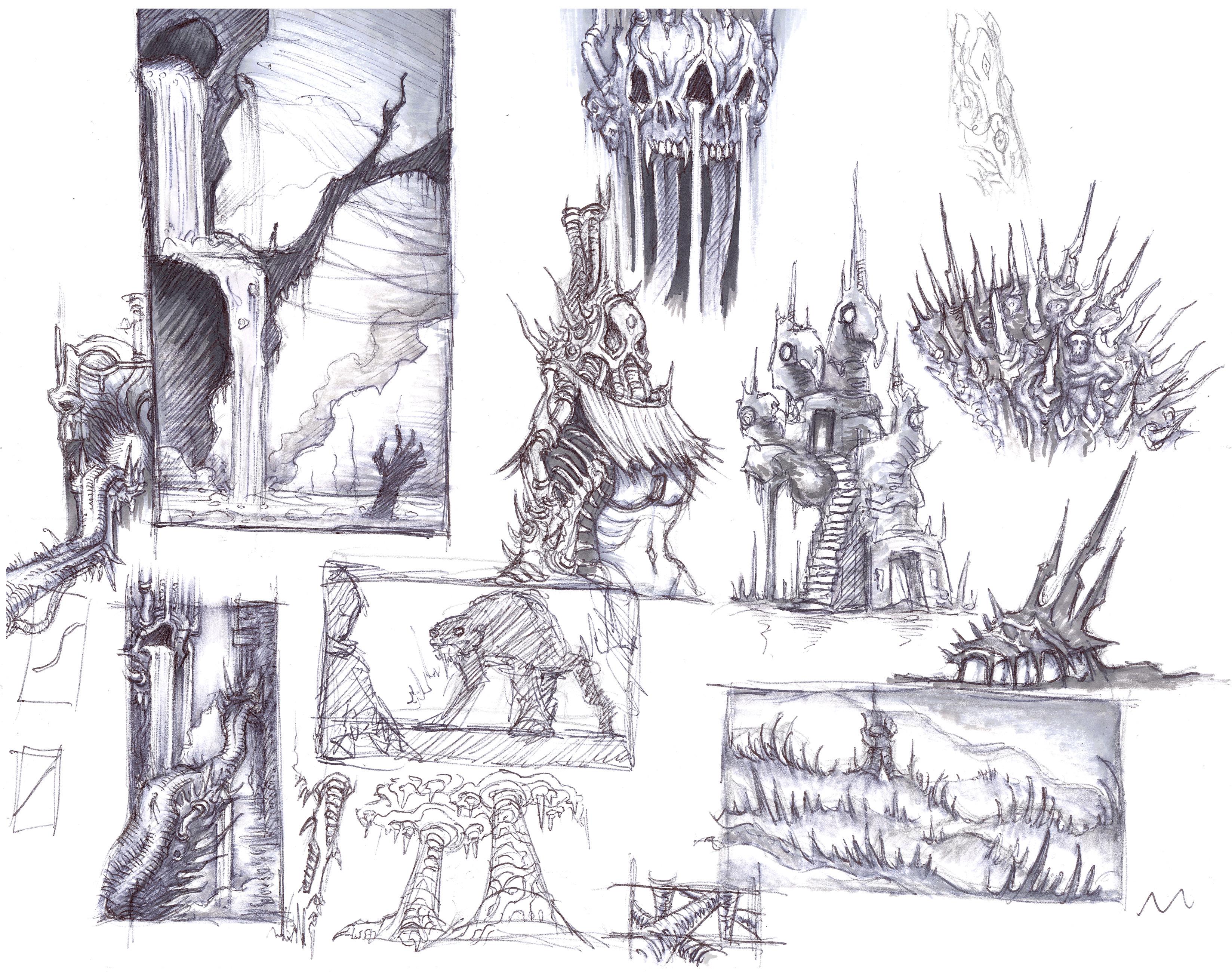 Inferno - Environment Sketch