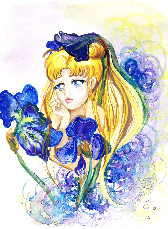 Fiolettakk2 Arts Sailor Moon Flowers
