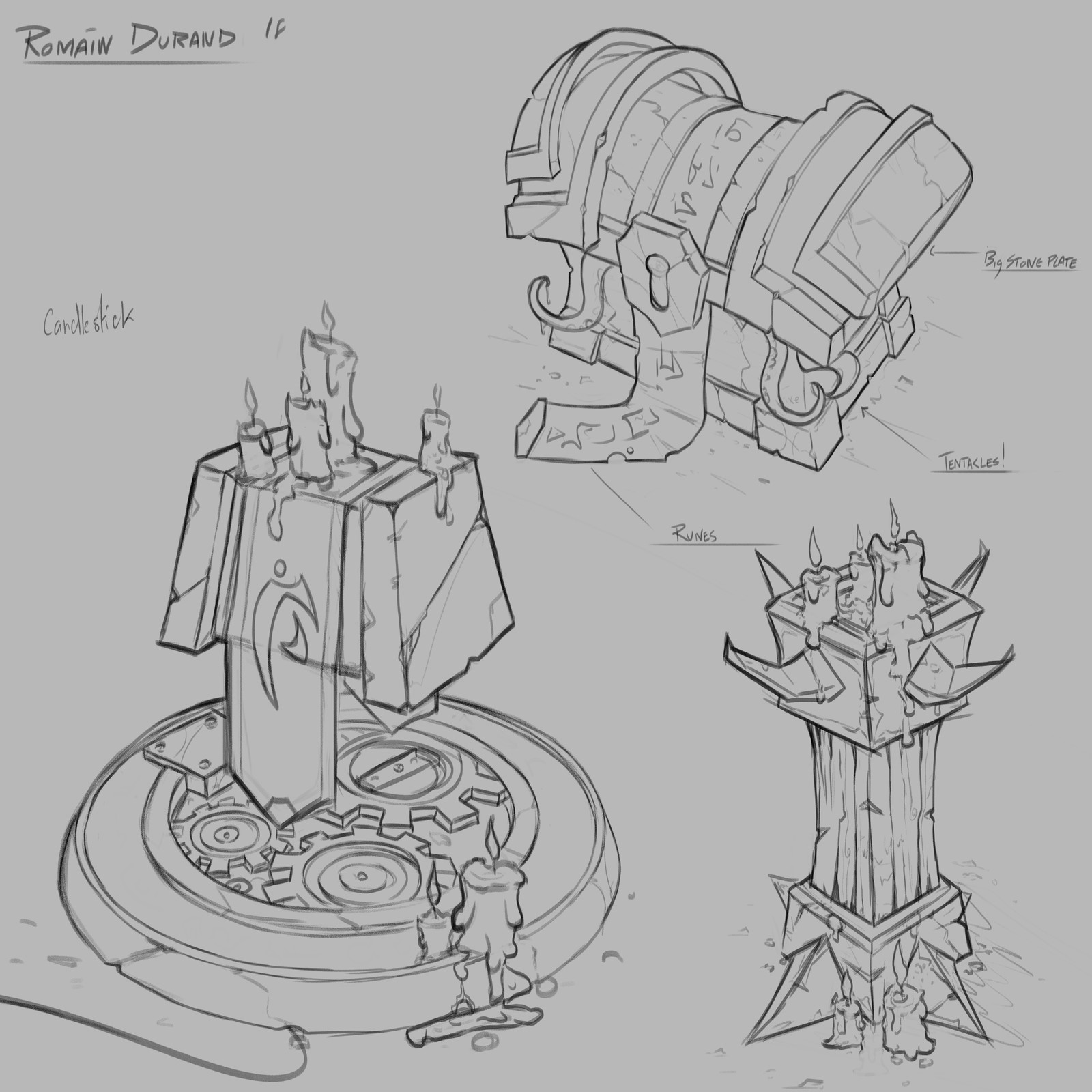 Alliance / Horde Candlesticks and Old Gods Chest