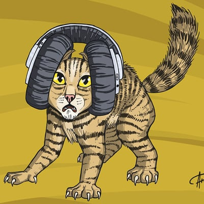 Atanas shopski cat sketch 2