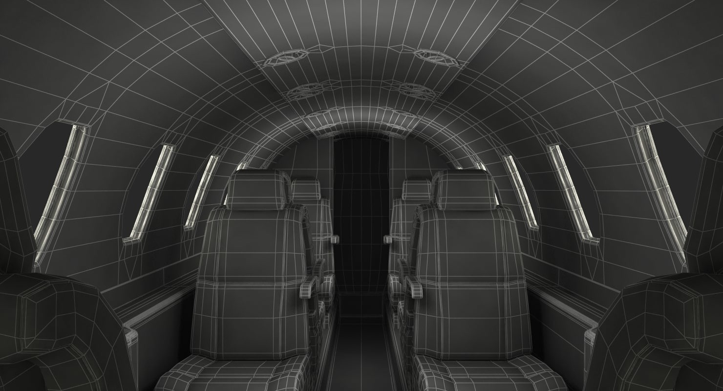 ArtStation - 3D model of Business Jet Interior, Andrey Simonenko