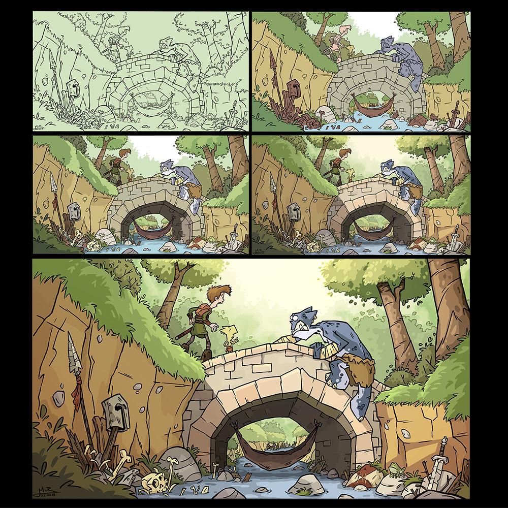 Mike cotton russell process bridge troll colour
