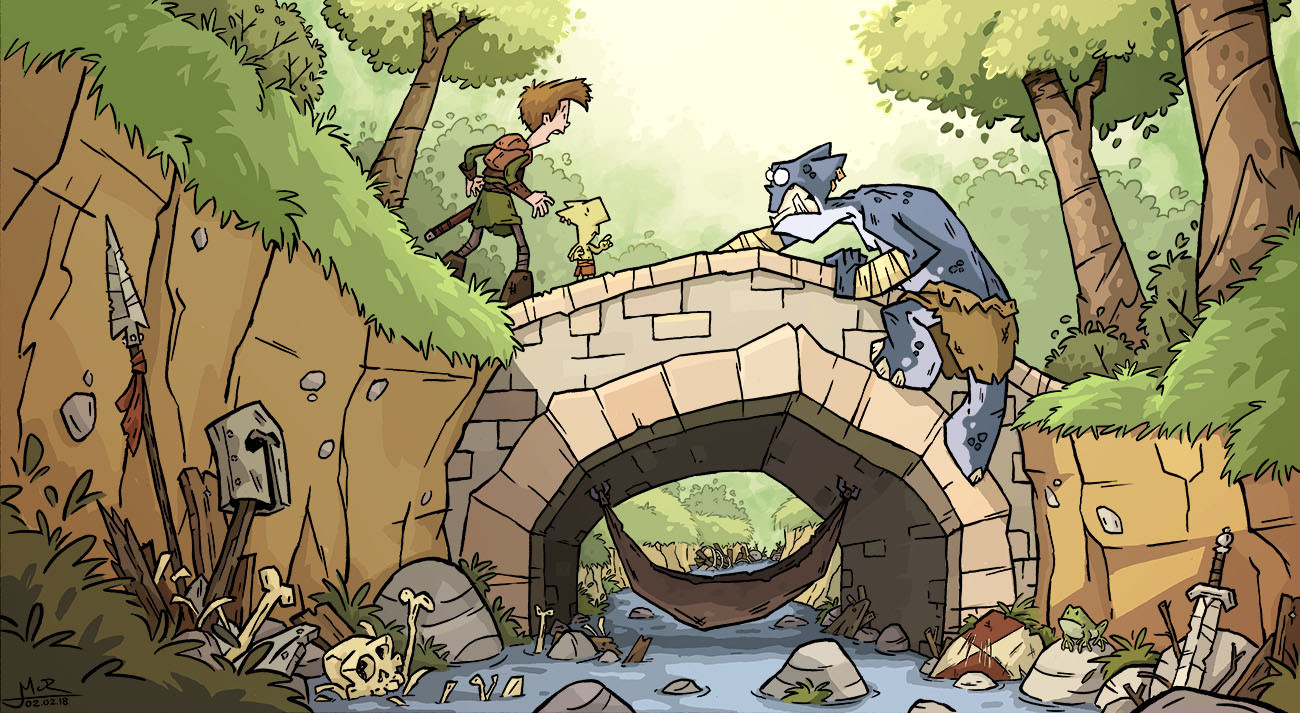 Mike cotton russell bridge troll 2