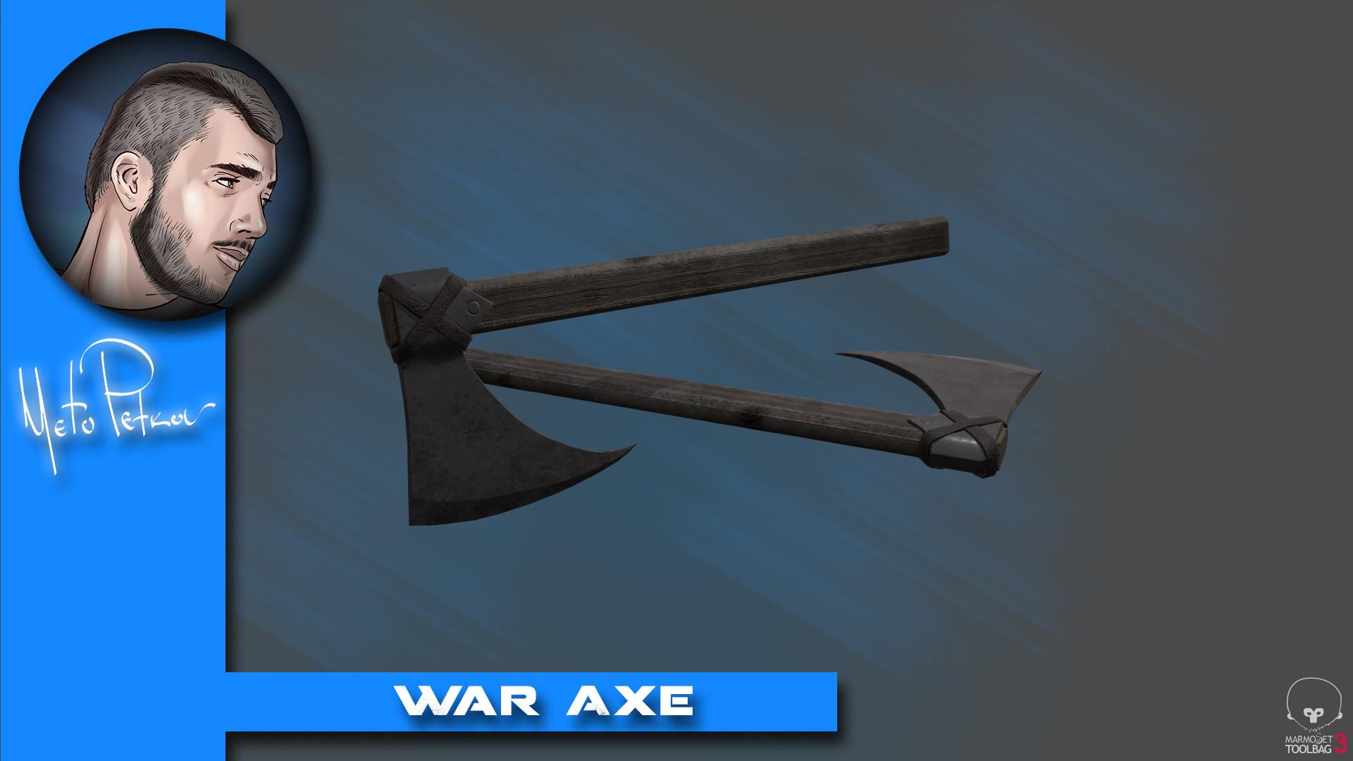 Meto petkov war axe
