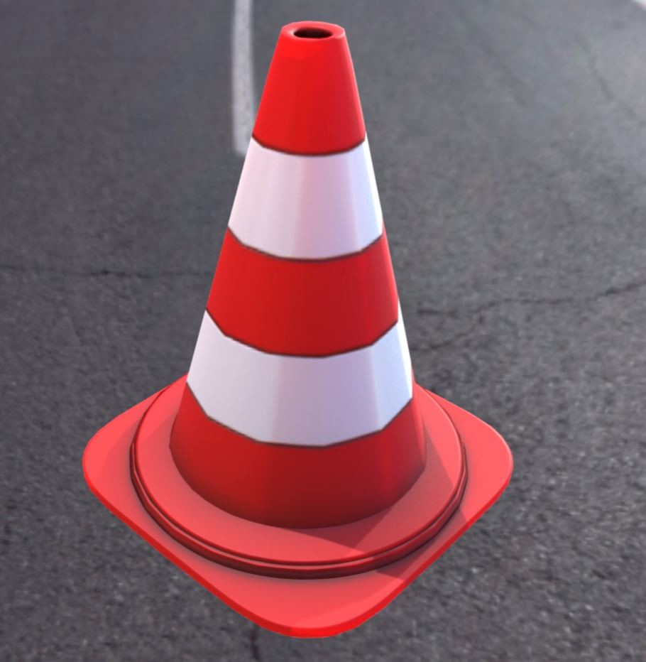 Traffic cones Very Low-Poly Pylone 2