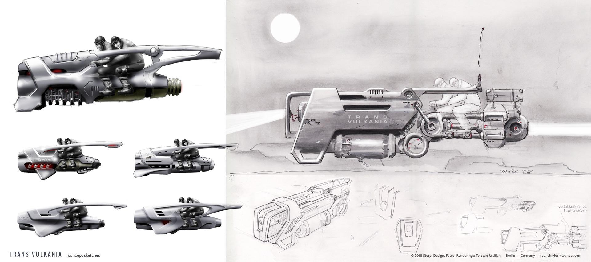 TRANS VULKANIA - concept sketches