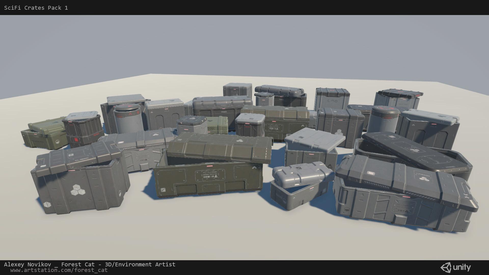 ArtStation - [Unity] SciFi Crates Pack 1 1, Alexey Novikov