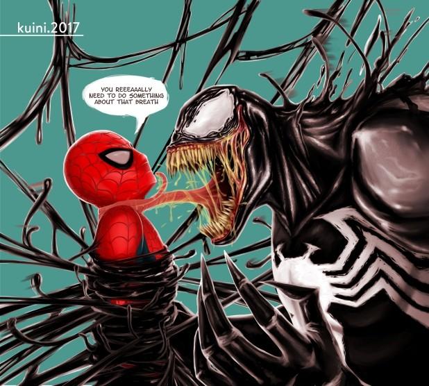 Artstation Spiderman Vs Venom Kuini Fernandez