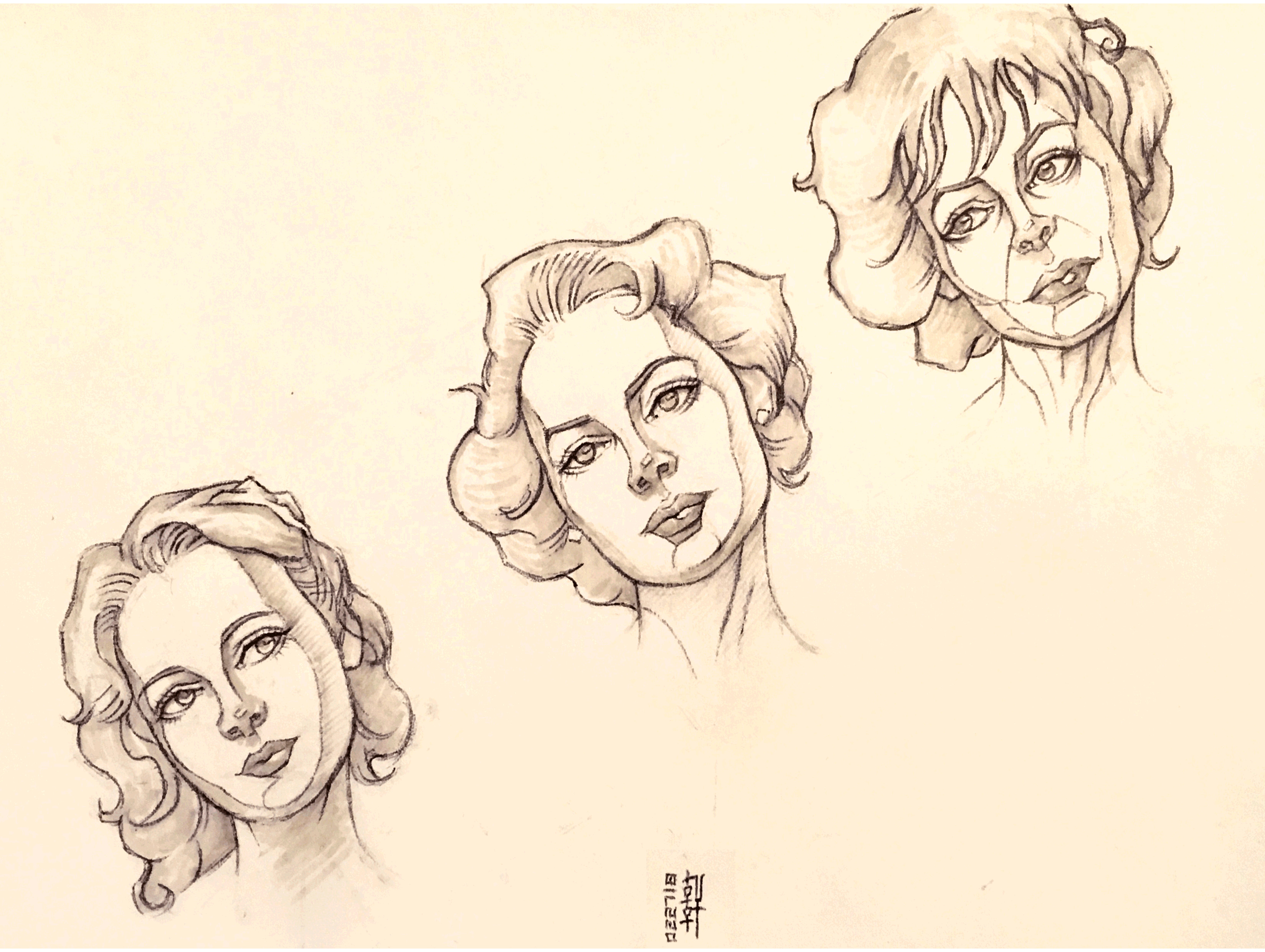 Day #15,160 - The Three Ages of Woman Sketch