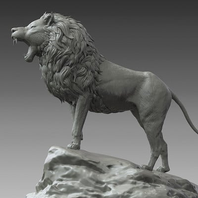 Jia hao lion digitalsculpture 01 01