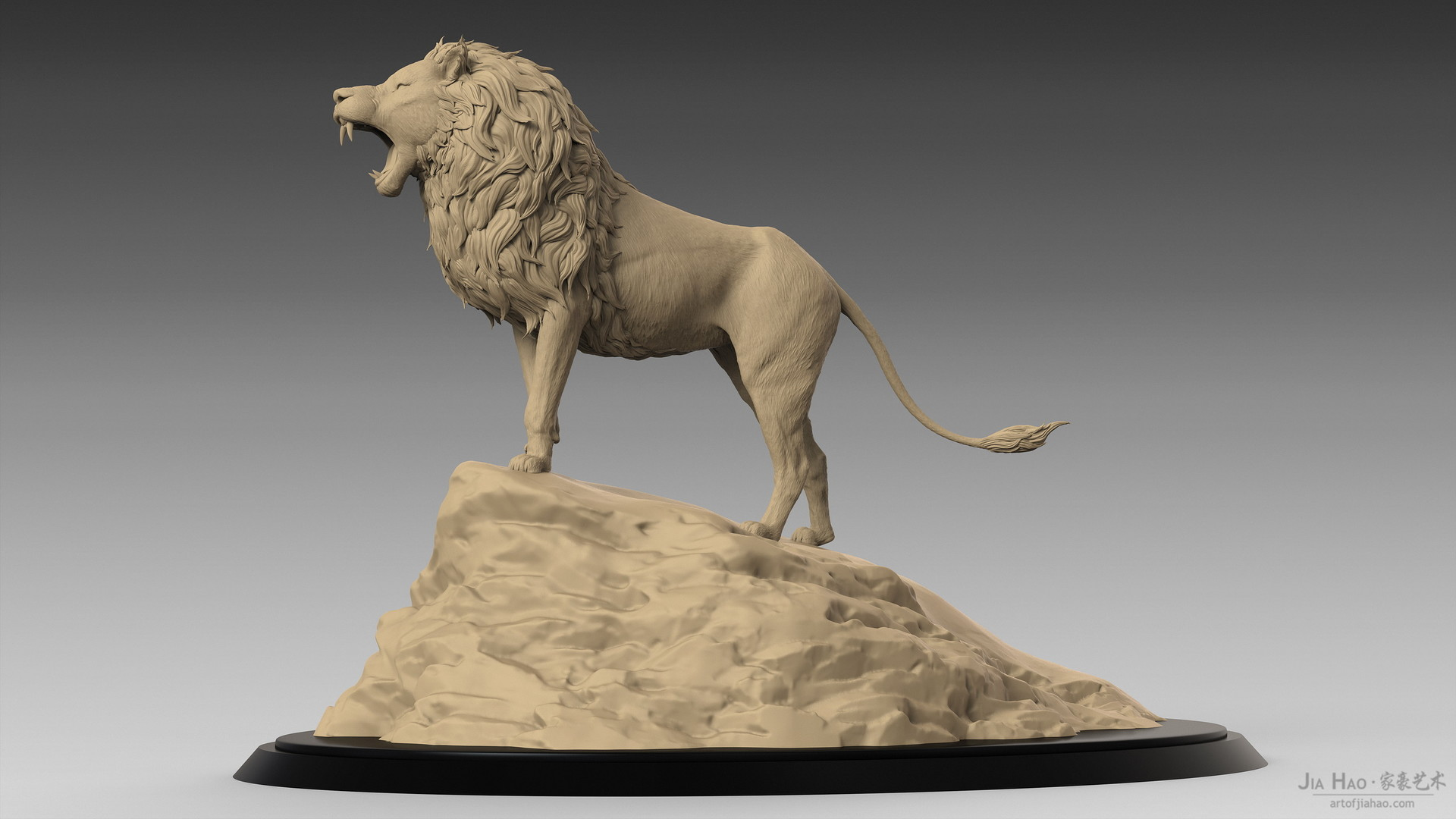 Jia hao lion digitalsculpturea 01