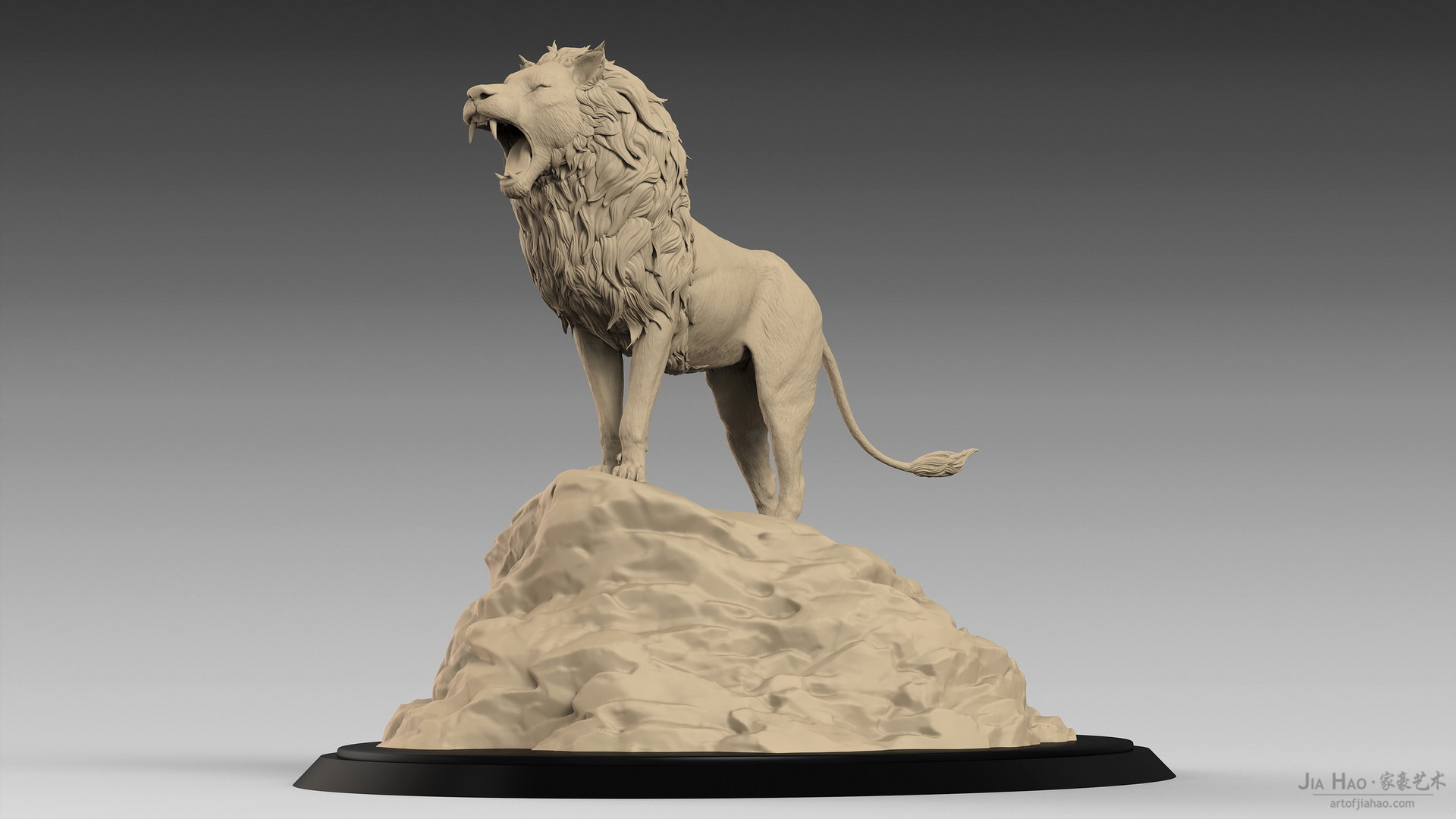 Jia hao lion digitalsculpture 02 03