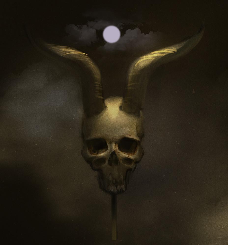 Y v devils skull sketch