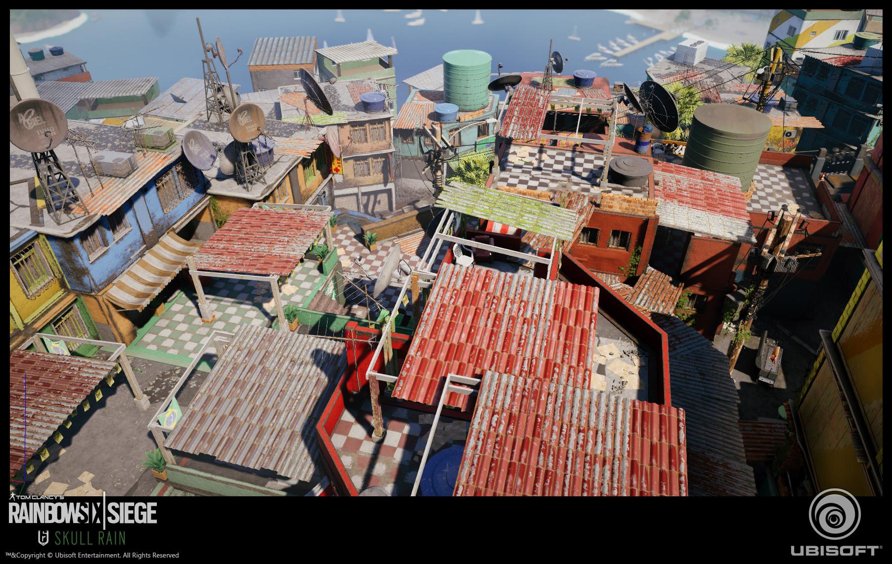 Favela map Floor Tile in game screens