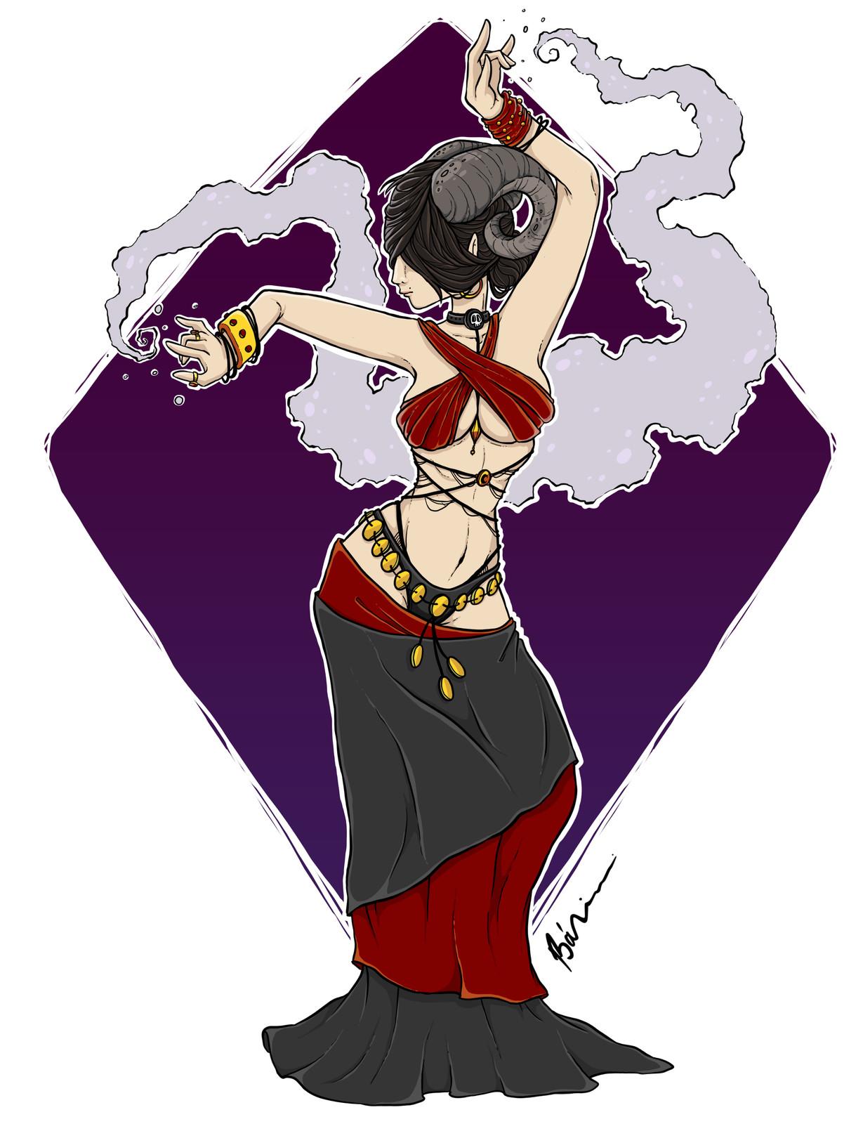 The summoning dance finished digital character illustration
