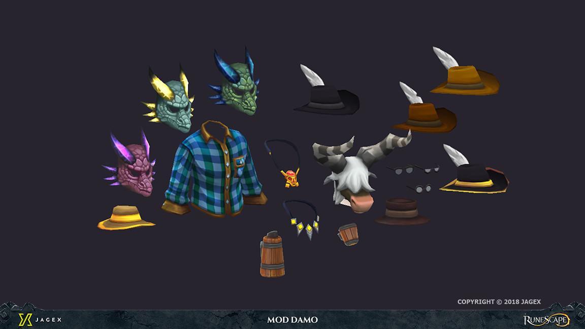 ArtStation - Runescape - treasure trails 2018 character art