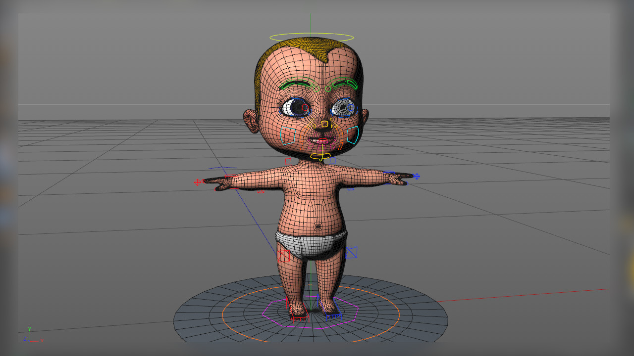 ArtStation - Cartoon Baby - 3D Modeling, texturing & rigging