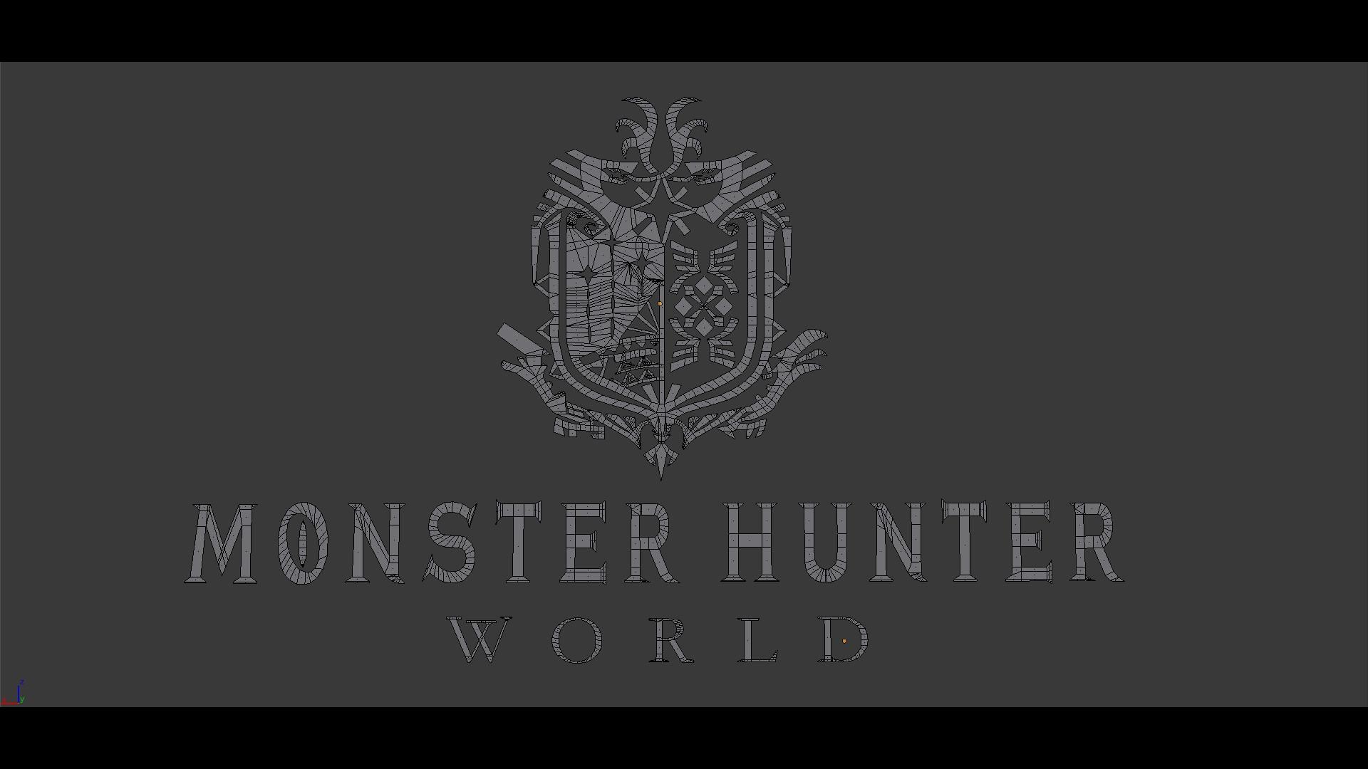 Artstation Process Of Design Monster Hunter World Logo