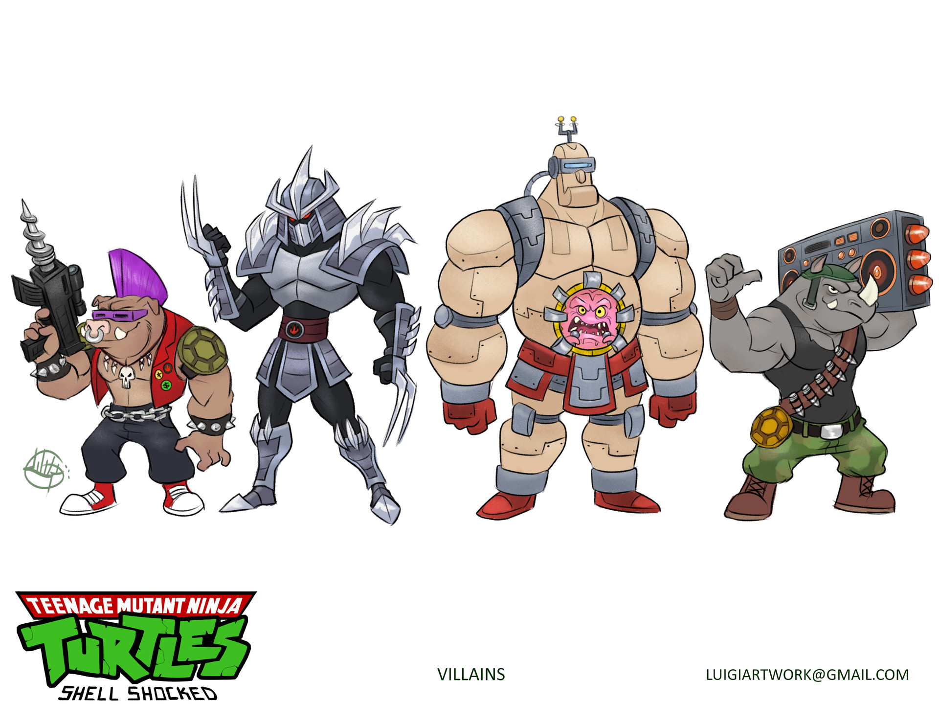 Luigi lucarelli tmnt shell shocked villains