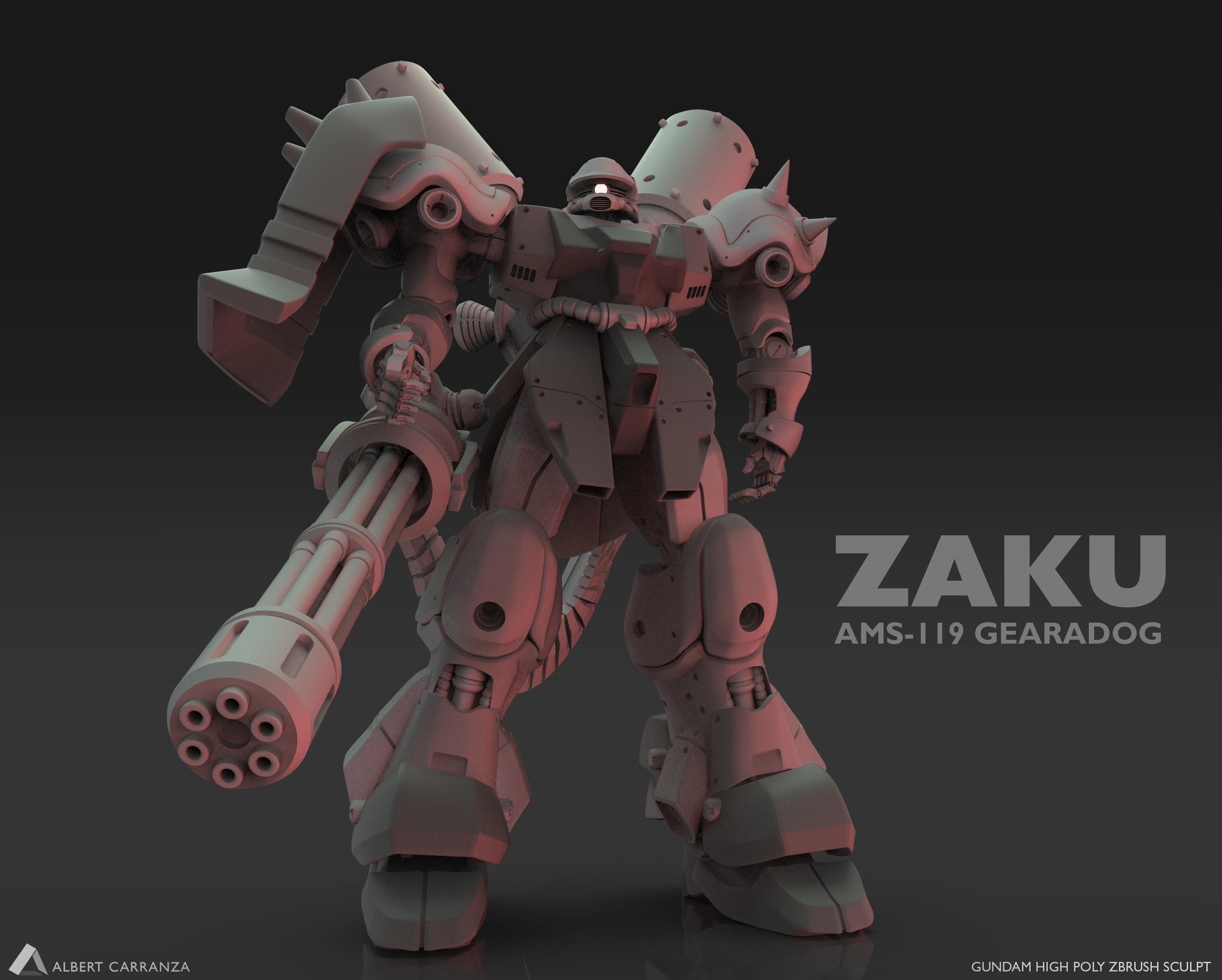 Zaku AMS-119 GEARA DOG  Zbrush Sculpt