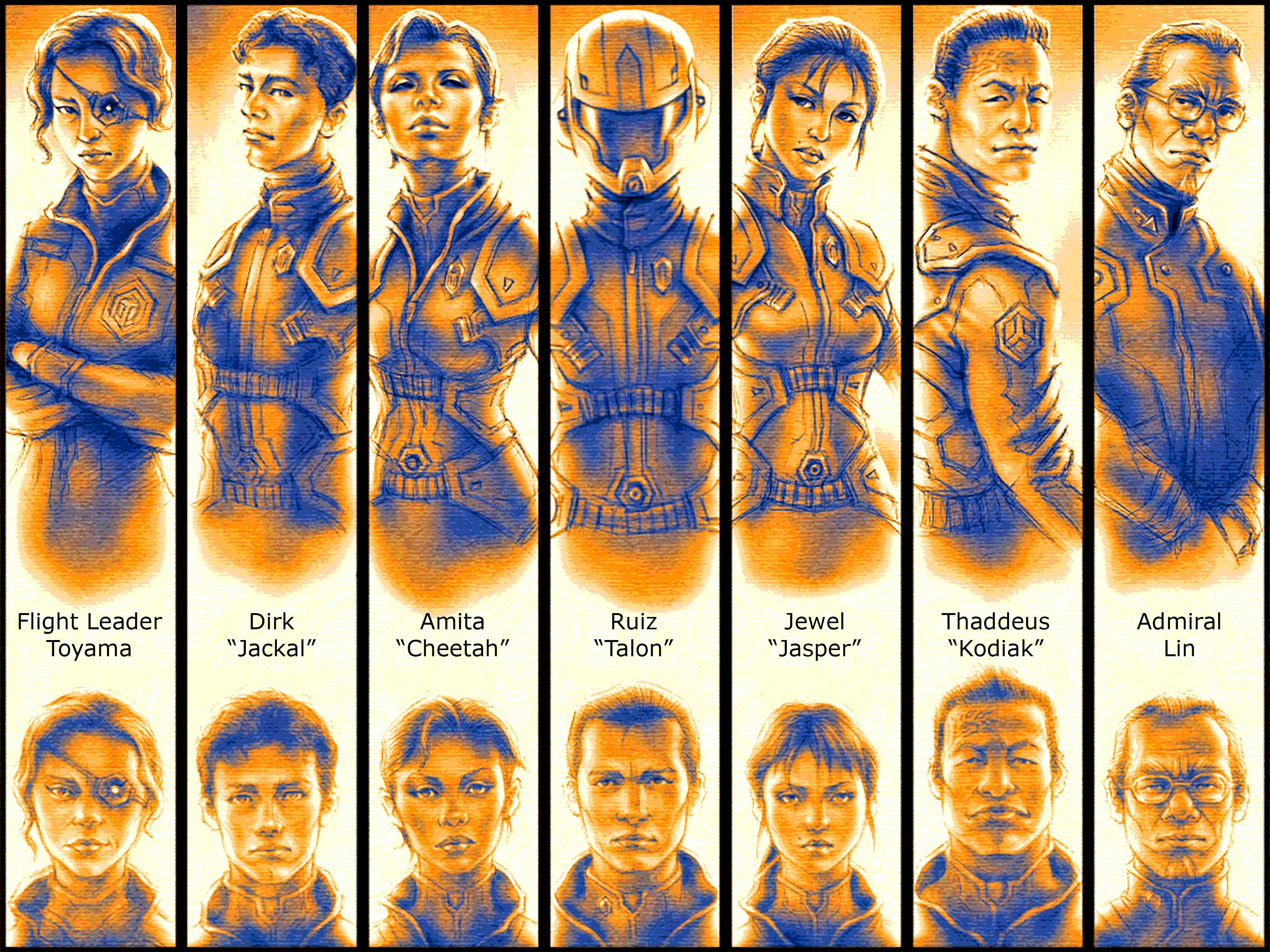 (2011) Star Raiders - Character Chart III