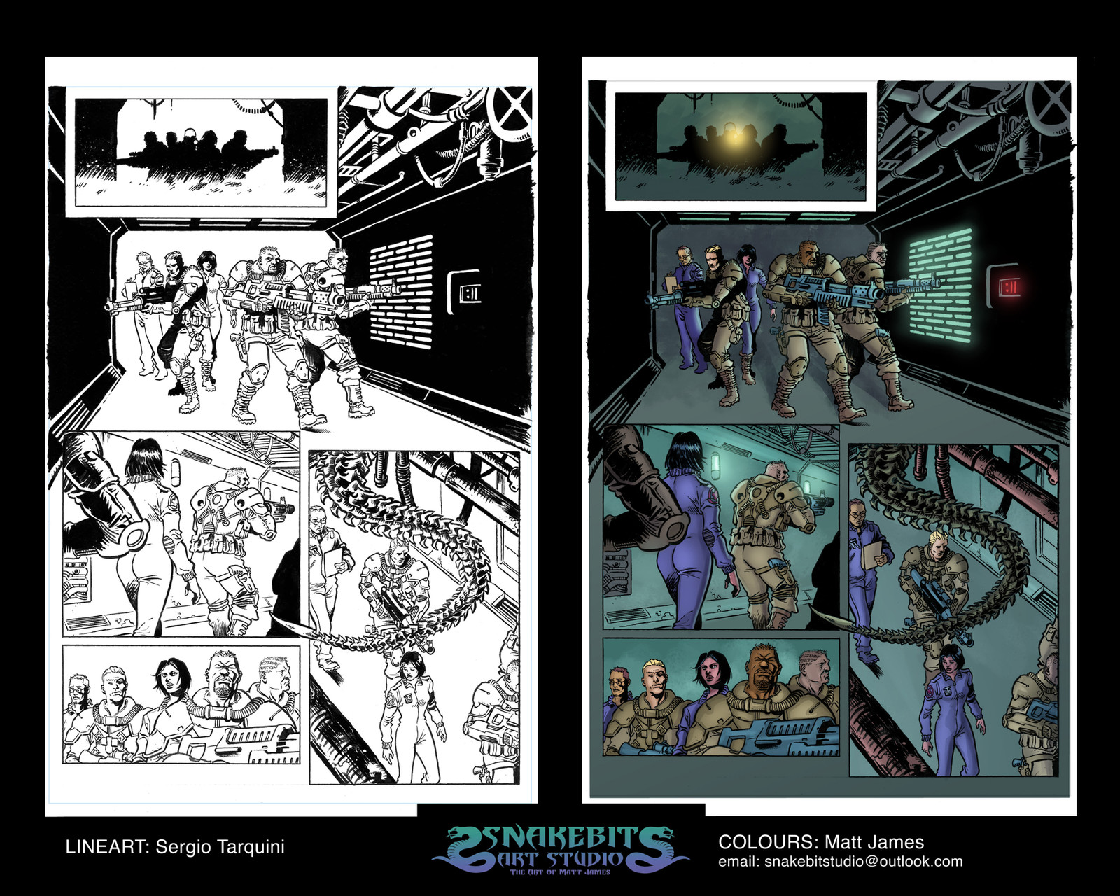 Alien Sample Pages