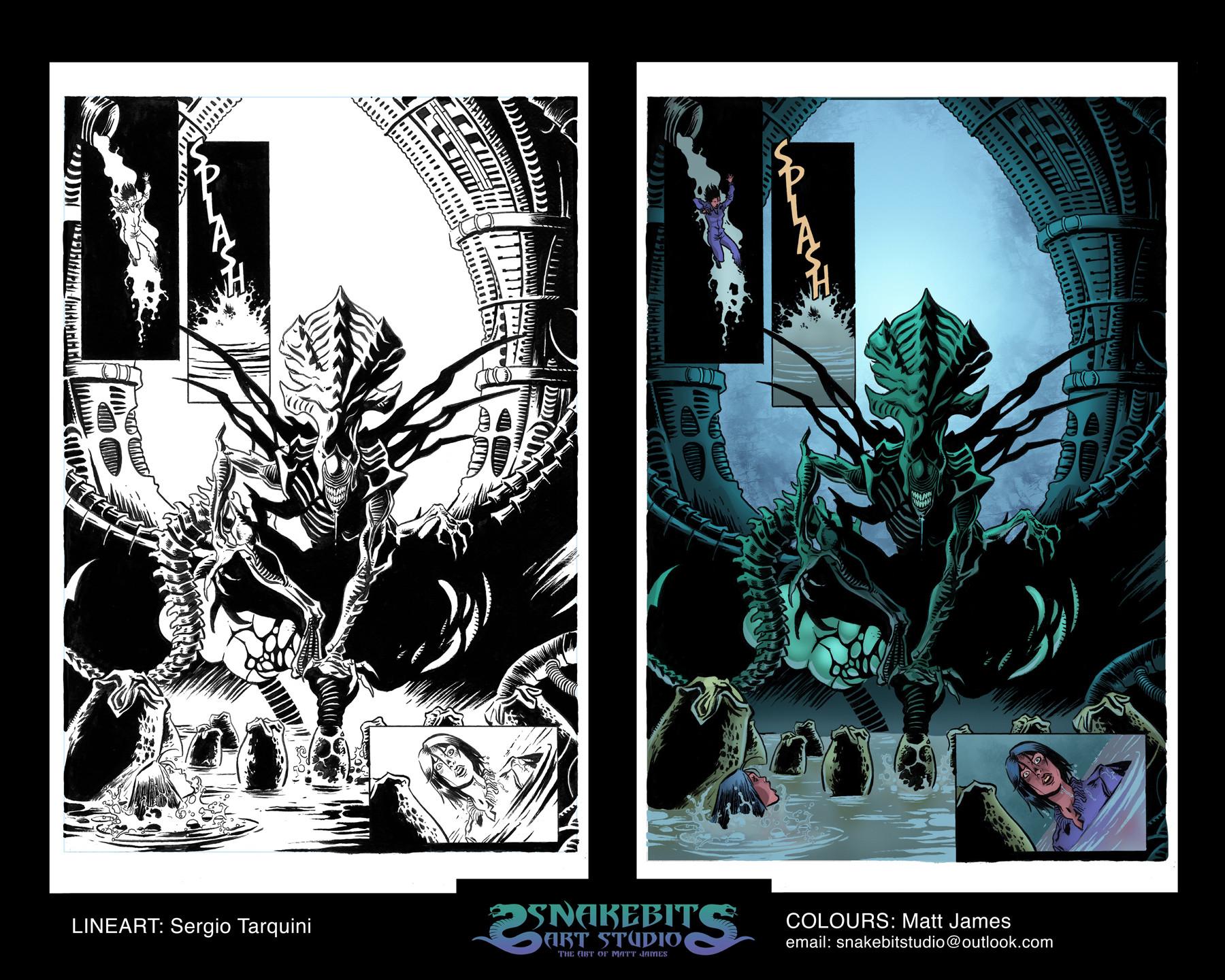 Matt james colour portfolio alien sample page 3