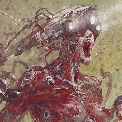 Atom cyber making a cyborg