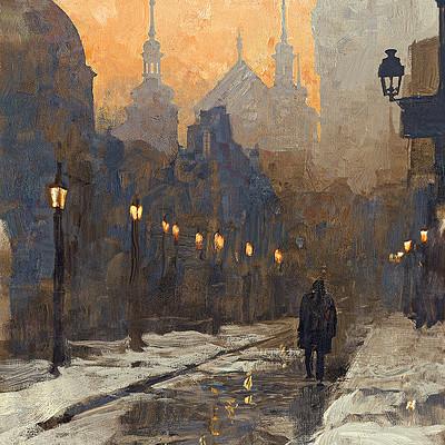 Greg rutkowski night street 1200
