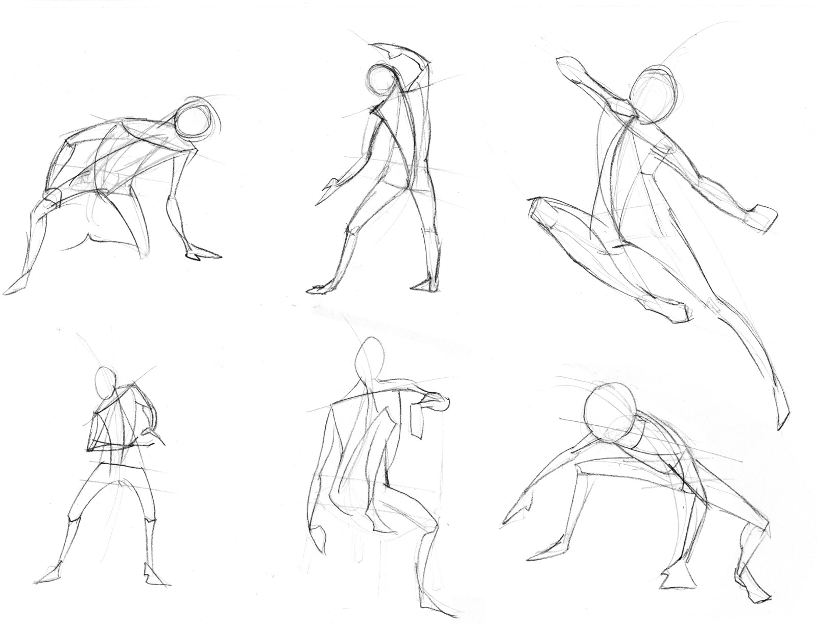 Gestures and basic body shapes.