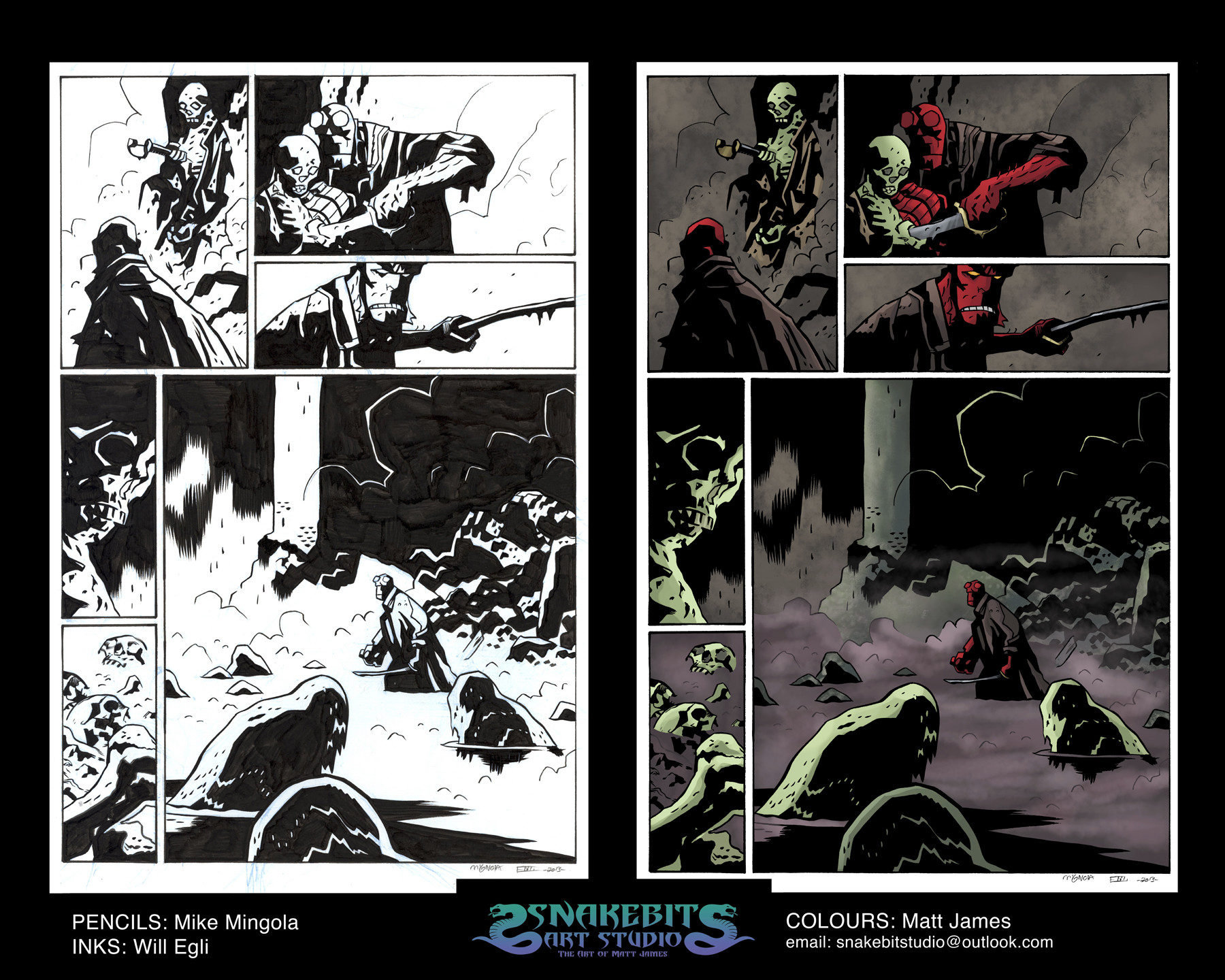 """Hellboy """"The Island"""" Sample Page"""