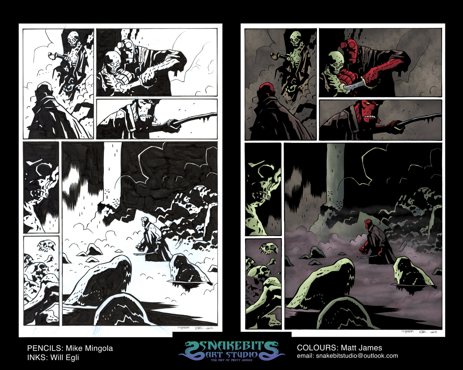 "Hellboy ""The Island"" Sample Page"