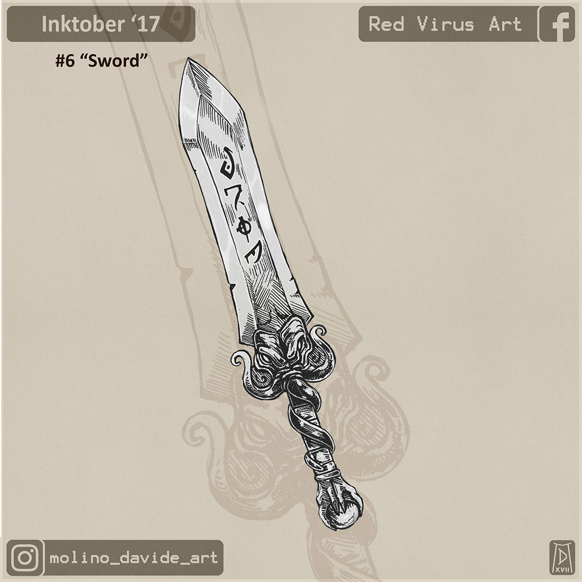 A sword from the deeps, with real R'lyehian runes!