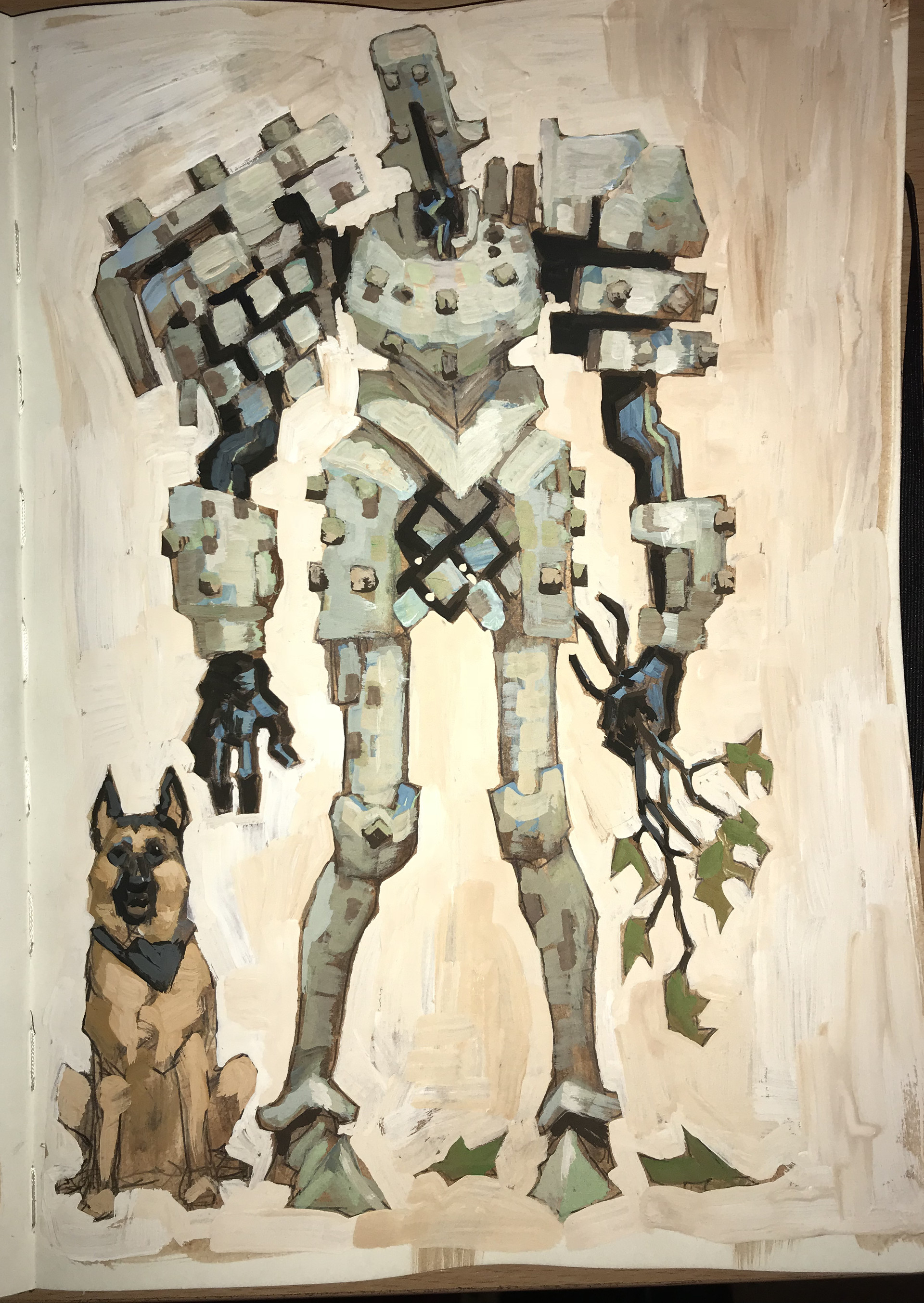 Edward delandre robot and doggo