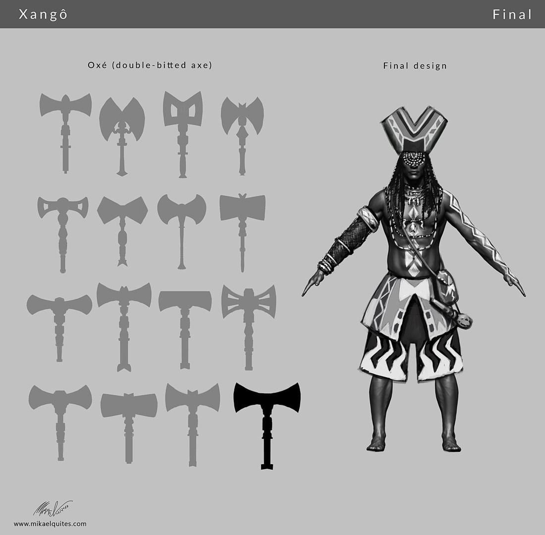 Final design and axe shape exploration