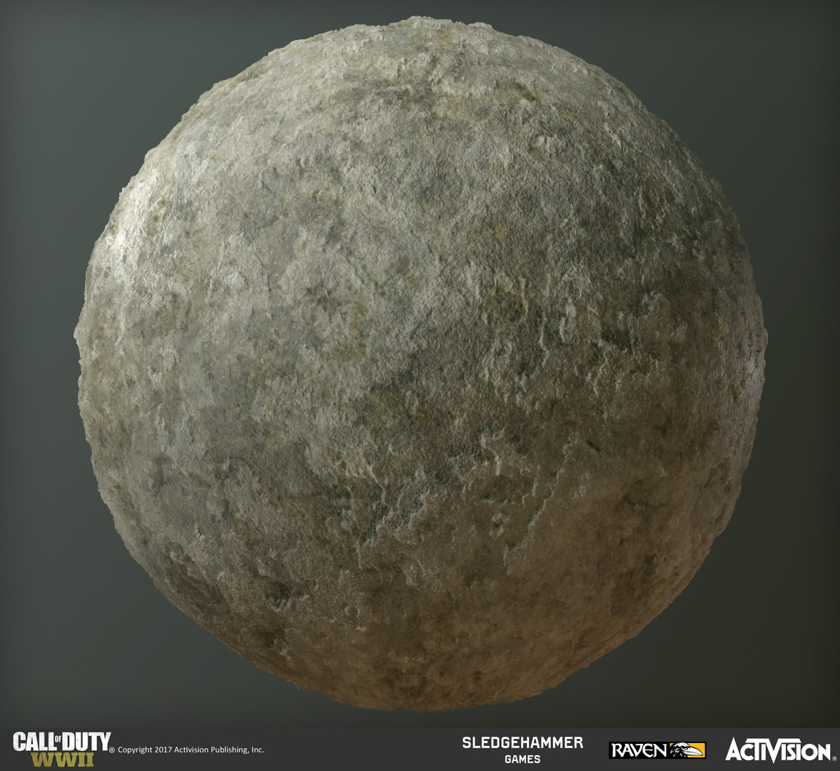 Plaster base material created procedurally in Substance Designer. I was able to create a suite of tools for large cracks and damage quickly utilizing designer to quickly dress the walls of the communication building.