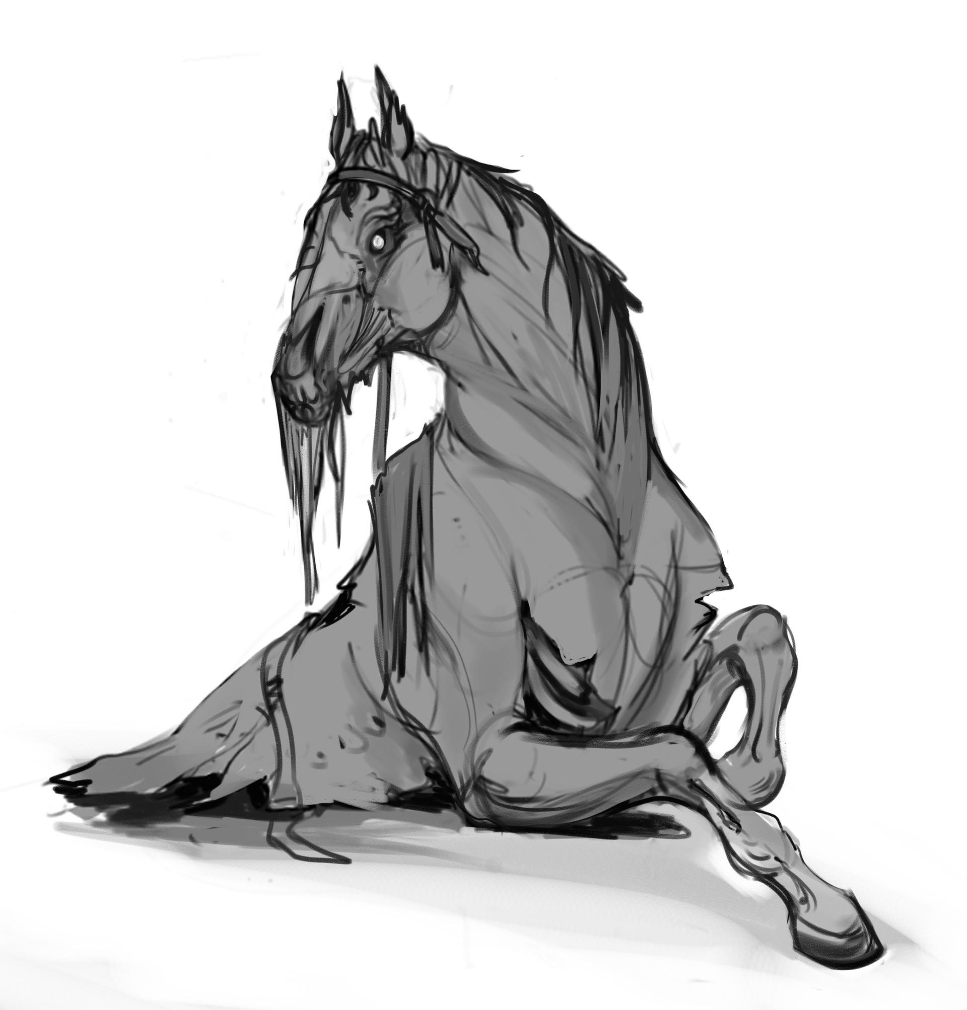Artstation Undead Horse Maria Panfilova