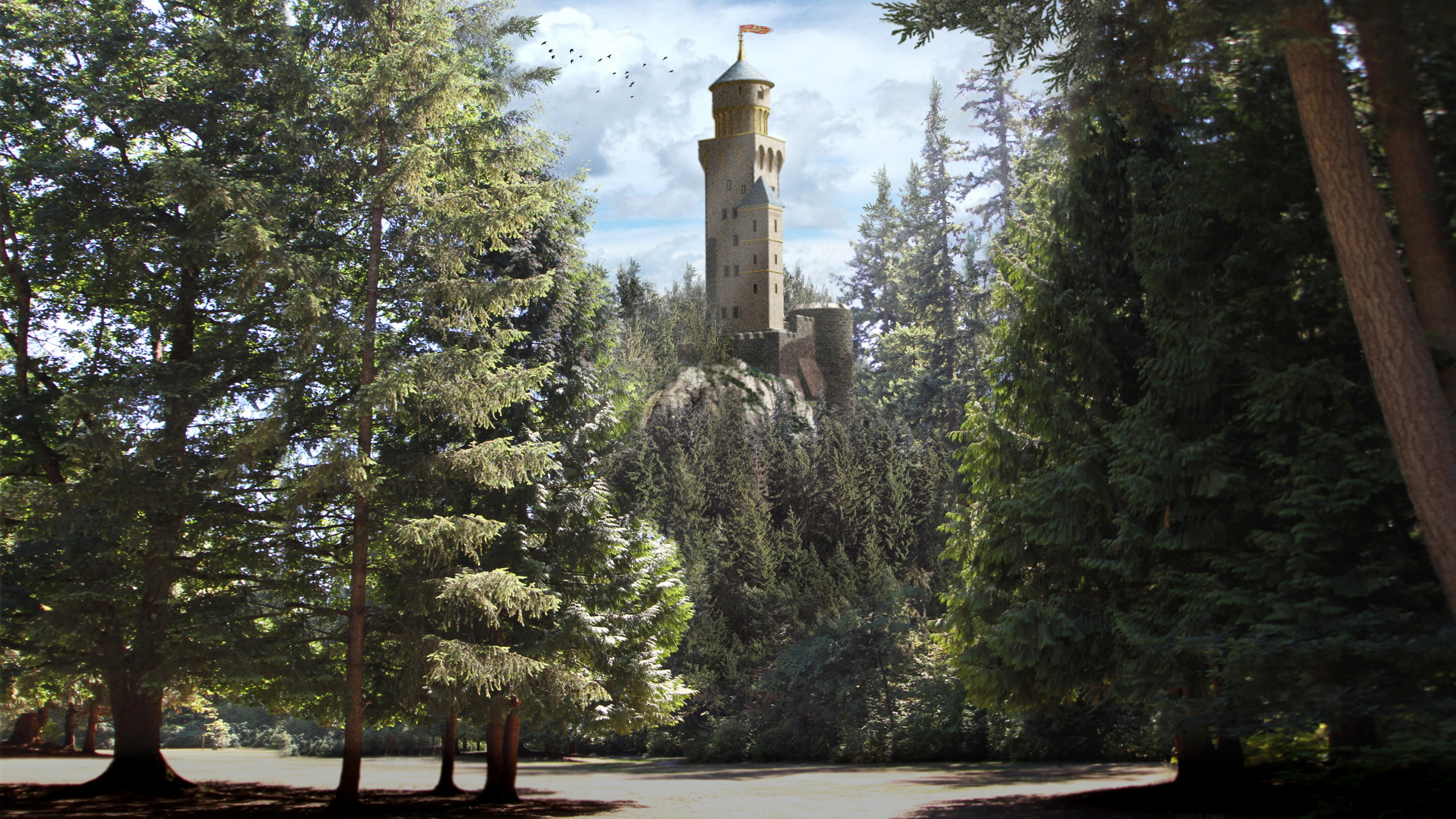 Tower Placement  / Once Upon  a Time Season 5