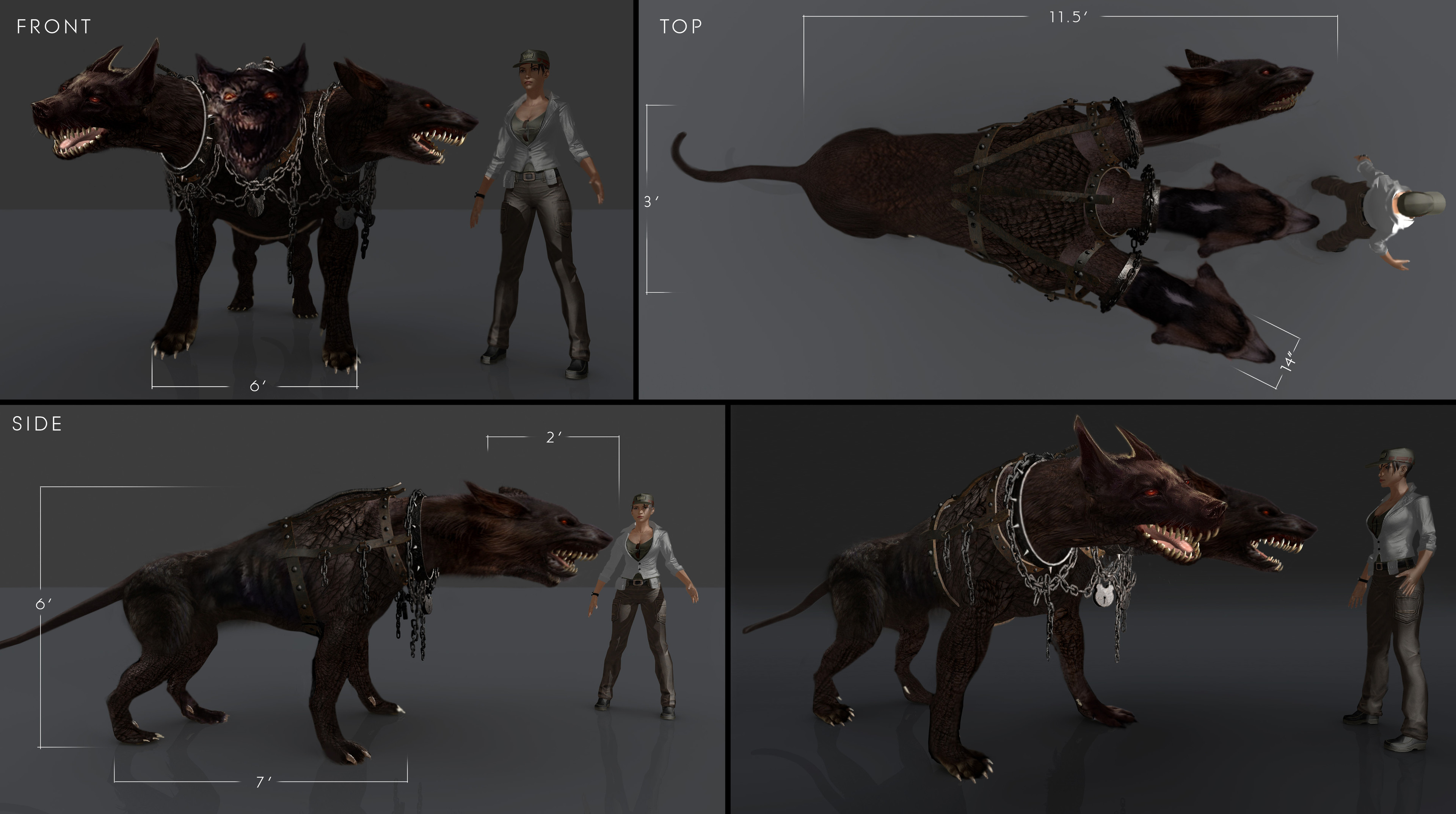 3 Headed Dog Concept  / Once Upon  a Time Season 5