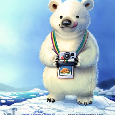 Piper thibodeau daily paint 1929 polaroid bear by cryptid creations dc4te94
